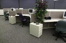 new cubicles, refurbished workstations